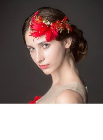 Mode Strass/Alliage/Feather Des peignes et barrettes/Fleurs et plumes