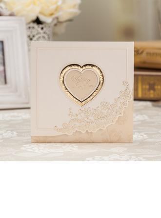 Estilo para el Corazón Tri-Fold Invitation Cards