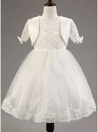 A-Line/Princess Cotton Blends Pageant Dresses/Baby Dresses With Lace