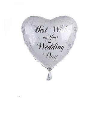 En forme de coeur Aluminium Foil Ballon