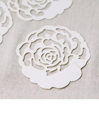 Design de fleur Papier Nacre Cartons