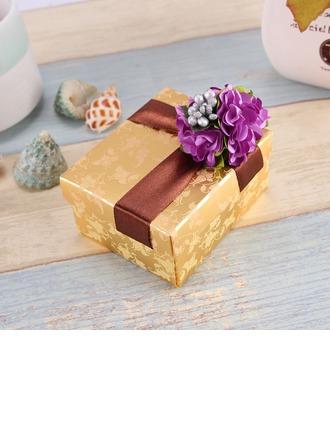 Design de fleur Cuboïd Boîtes cadeaux avec Fleur(s)