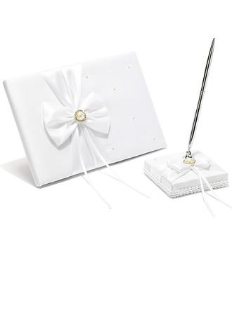 Style Classique De faux pearl/Arc Livres d'or & Ensemble de crayon