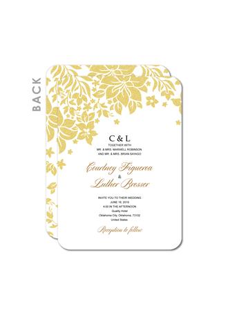 Style Vintage/Style Classique Carte plate Cartes d'invitations