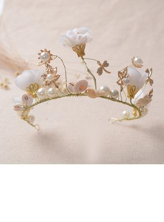 Hermoso/Moda Aleación/La perla de faux Tiaras