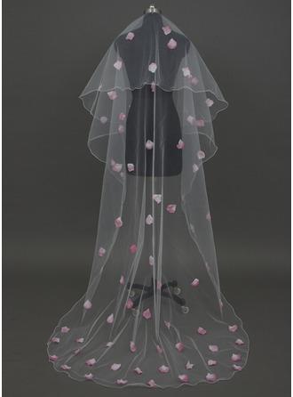 1 couche Voiles de mariée chappelle avec Liseret