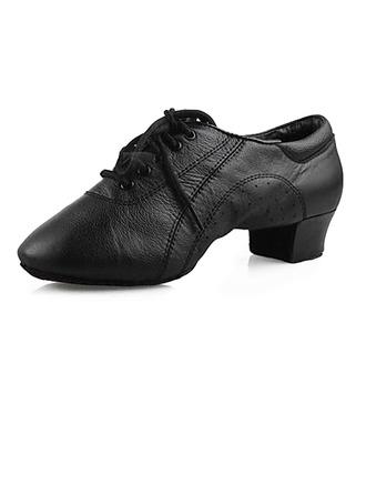 Hommes Enfants Vrai cuir Chaussures plates Latin Salle de bal Chaussures de danse