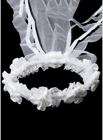 Fauxen Pärla med Spets/Strass Pannband