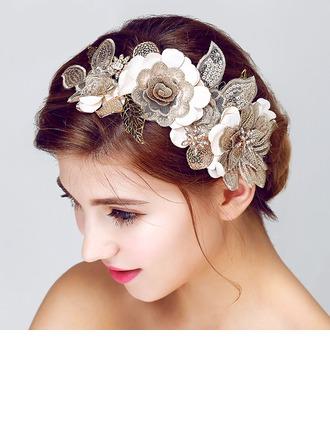 Fait main Dentelle/Tissu Fleurs et plumes