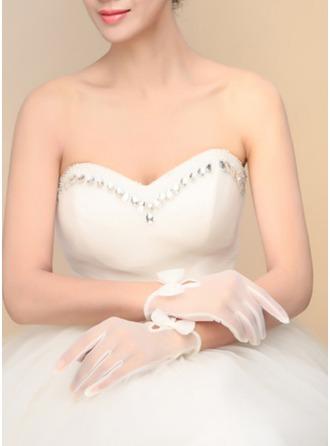 Tule Wrist Lengte Bruids Handschoenen