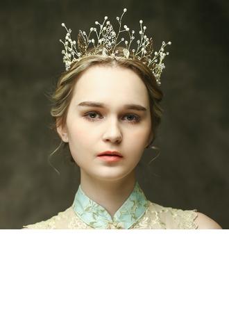 Maravilloso Rhinestone/La perla de faux Tiaras