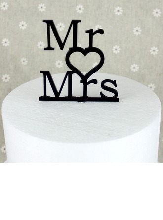 Lettre Mr & Mrs Acrylique Mariage Décoration pour gâteaux/Douche nuptiale Décoration pour gâteaux