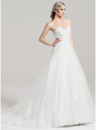 Robe Marquise Amoureux Traîne mi-longue Tulle Robe de mariée