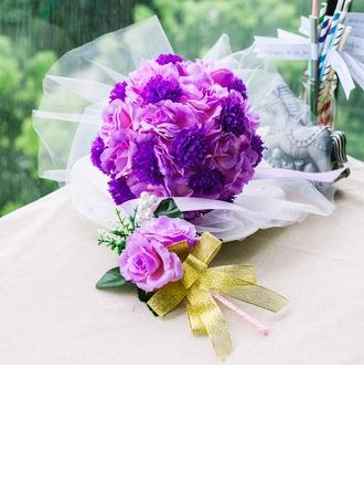 Doux Rond Satiné Sets de fleurs