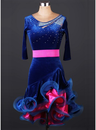 Women's Dancewear Velvet Latin Dance Leotards