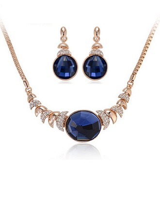 Fashional Alloy/Rhinestones/Glass Ladies' Jewelry Sets