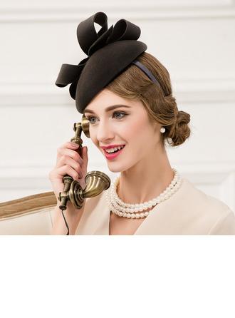Ladies' Romantic Wool With Rhinestone Fascinators