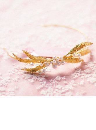 Unique Imitation Pearls/Copper Headbands