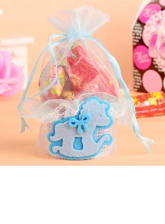 Jolie animal Basket Sacs cadeaux avec Rubans