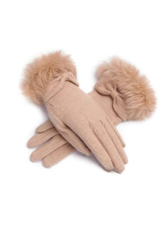 Rabbit Hair/Knitting Wrist Length Party/Fashion Gloves