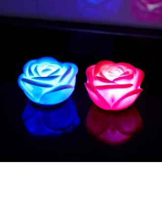 Cambio del Color Rosa en forma Luces LED