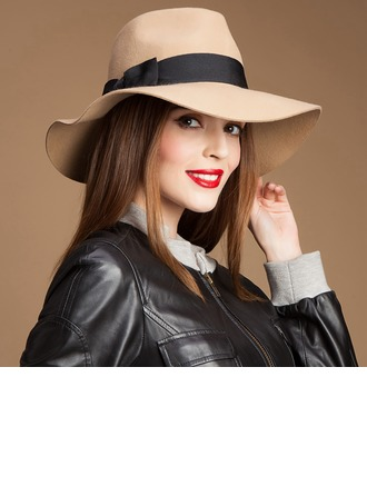 Unisex Unique Autumn/Winter Wool With Bowknot Floppy Hat