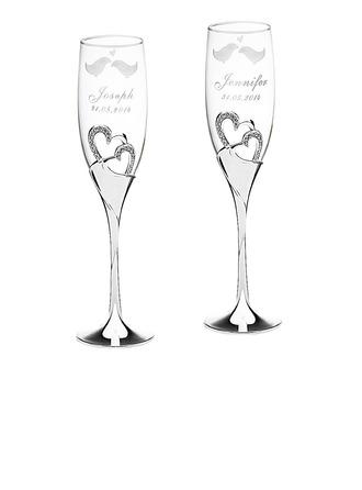 personnalisé Beaux Oiseaux Verre/Aluminium Flûtes à champagne