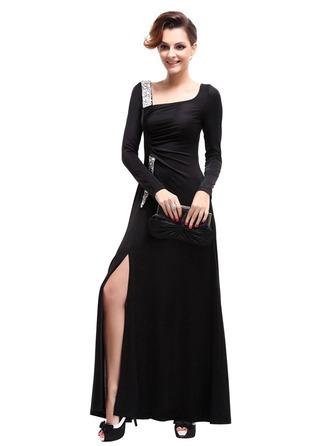 Coton/Satiné avec Couture Maxi Robe