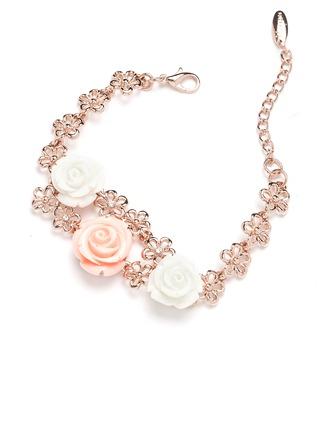 Flower Shaped Alloy With Rhinestone Women's/Ladies' Bracelets