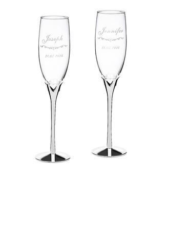 personnalisé Conception de coeur Verre/Aluminium Flûtes à champagne