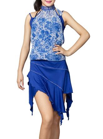Women's Dancewear Polyester Latin Dance Outfits