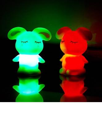 Changement de Couleur Conception de lapin Vinyl Éclairage LED