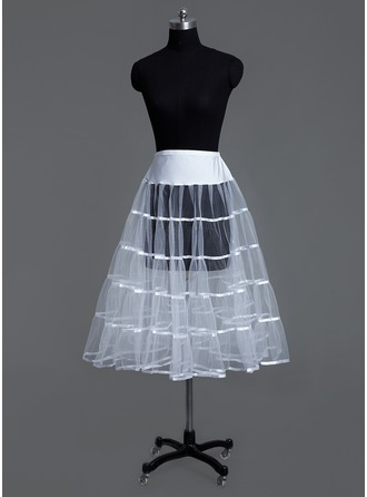 Women Tulle Netting/Lycra Tea-length 1 Tiers Petticoats