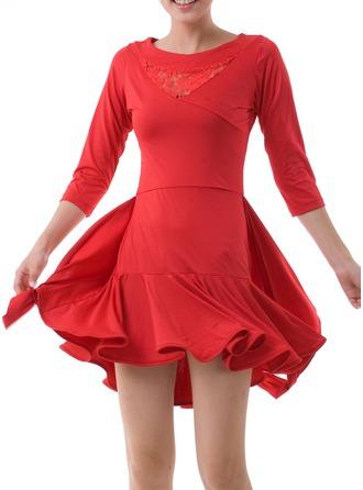Women's Dancewear Lace Polyester Latin Dance Dresses