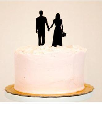 Couple classique Acrylique Mariage Décoration pour gâteaux/Douche nuptiale Décoration pour gâteaux