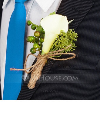 Classic Hand-tied Satin Boutonniere/Men's Accessories