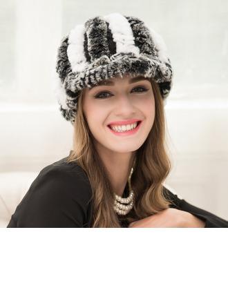 Dames Mode Poil de lapin Cap Peaked