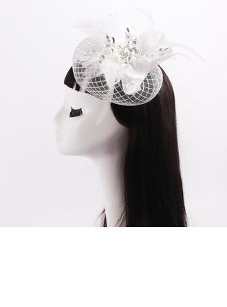 Dames Beau Feather/Dentelle/Tulle avec Strass/Bowknot Chapeaux de type fascinator