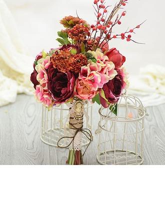 Magnifique Forme libre Soie artificielle Bouquets de mariée
