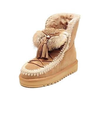 Femmes Vrai cuir Talon plat Chaussures plates avec Tassel chaussures