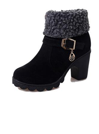 Femmes Similicuir Talon bottier Plateforme Bottines avec Zip chaussures