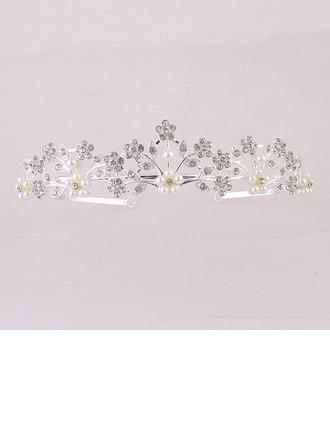 En forma de flor Aleación/La perla de faux Tiaras (Se venden en una sola pieza)
