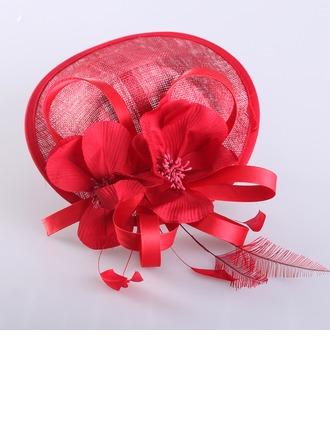 Dames Spécial Été Batiste avec Feather Chapeaux de type fascinator