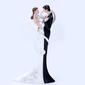 Figurine Classic Couple Resin Wedding Cake Topper (119055254)