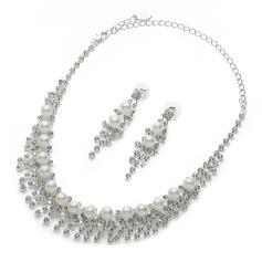 Gorgeous Alloy/Pearl/Rhinestones Ladies' Jewelry Sets