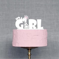Mix & Match It's a Girl Acrylic Baby Shower Cake Topper