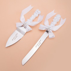 Personalized Starfish Stainless Steel Serving Sets With Ribbons