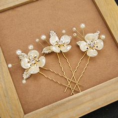 Beautiful Imitation Pearls/Resin Hairpins (Set of 3)