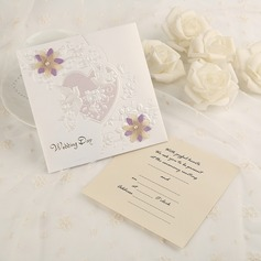 Classic Style Side Fold Invitation Cards