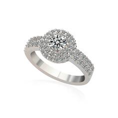 Elegant Copper/Platinum Plated With Cubic Zirconia Ladies' Rings
